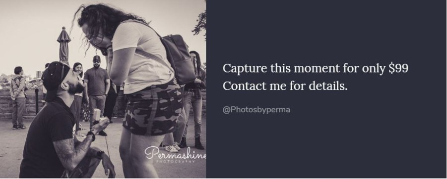 Surprise your love one with a Wedding proposal. Keep the memory forever with a photoshoot.
