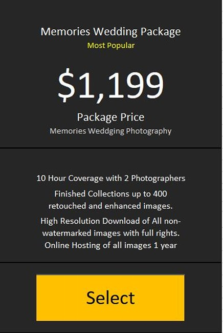 Memories Wedding Package